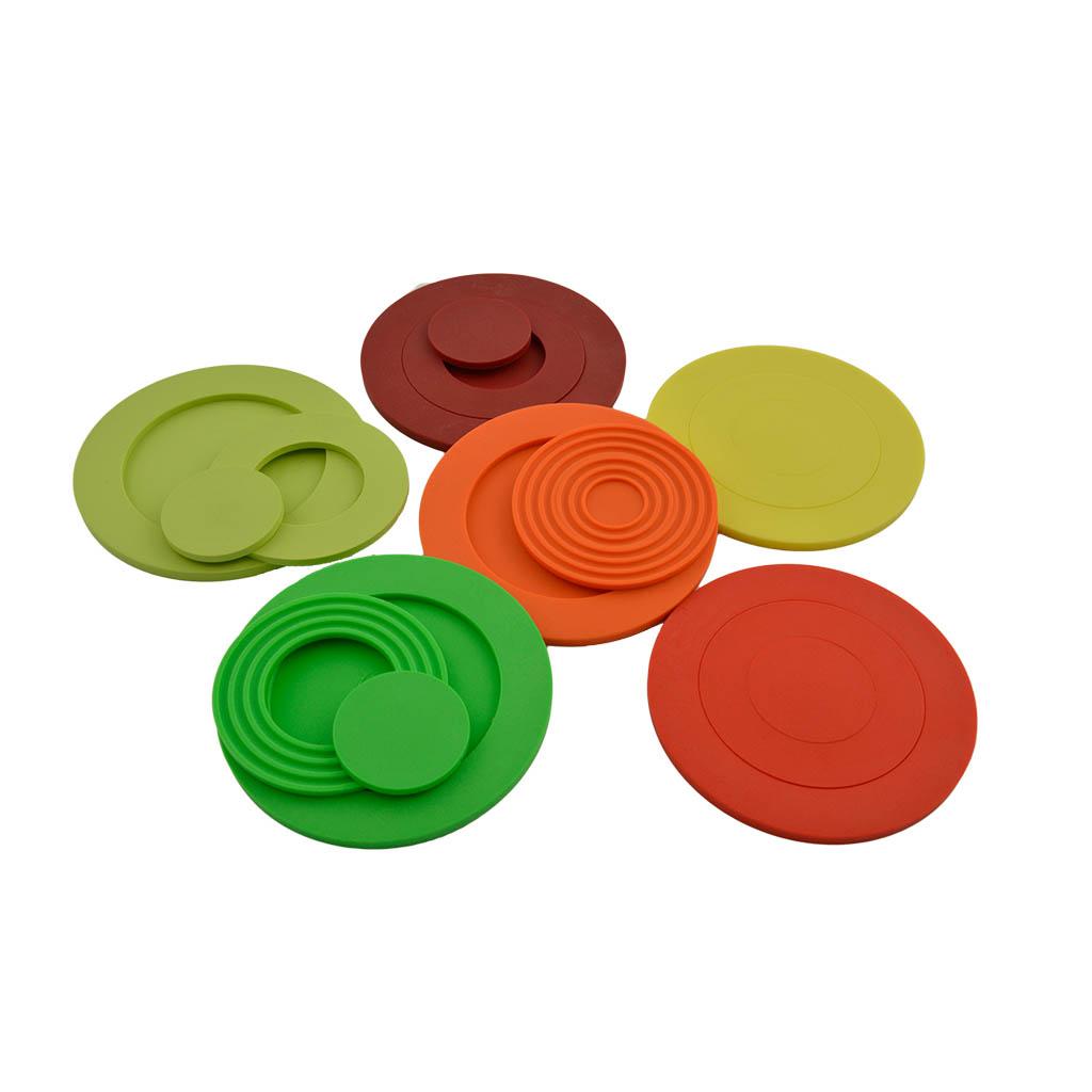 Set van 6 onderzetters mix it felle kleuren handig cadeau - Felle kleuren ...