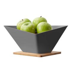 vergiet fruitschaal grijs
