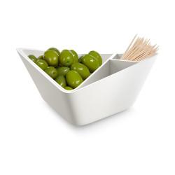 noten en olijven bakje 3 in 1 wit forminimal