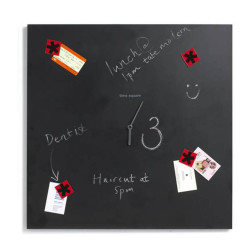 krijtbord klok Time square black+blum