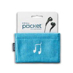 Pocket, etui voor oordopjes blauw