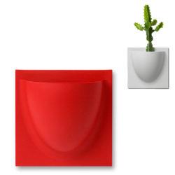 wandpot Vertiplants Mini rood 15 x 15 cm