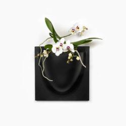 wandpot Vertiplants Mini 15 x 15 cm zwart