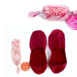 candy socks kersen roodCandy Socks | 1 paar kousenvoetjes kersen rood