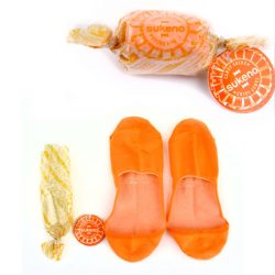 Candy Socks | 1 paar kousenvoetjes oranje