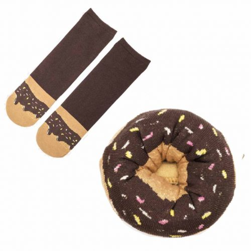 sokken donut fudge sprinkles