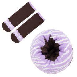 sokken donut lavendel swirl topping