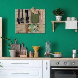 impressie naturel bord beige elastiek keuken