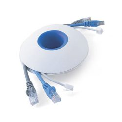 Snoeren oprollen met XL Cable organizer - Wit / Blauw